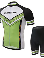 WEST BIKING® Men's Mountain Bike Clothing Suit Breathable Green Valley Wicking Cycling Clothing Short Suit