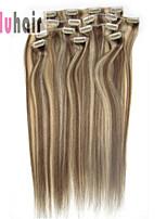 20inch (50cm) 8 stuks 100 gram clip in op echte remy human hair extensions kleur # 8/613