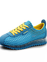 Zapatos de mujer Cuero Tacón Plano Punta Redonda/Tira en el Tobillo Sneakers a la Moda Exterior/Casual/Deporte Azul/Rosa/Gris