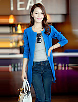 Women's Vintage Sexy Casual Party Work Medium Long Sleeve Regular Blazer (Spandex/Polyester/Microfiber)