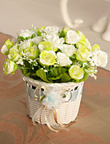 Artificial Flowers Simulation Rose with Basket Home / Wedding Decor (15*16*8m)