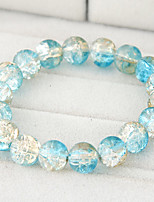 Women's European Style Concise Fashion Glass Persona Beads Collection Bracelet
