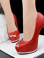 Women's Shoes Faux Leather Stiletto Heel Heels Pumps/Heels Casual Multi-color