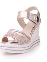 Women's Shoes Wedge Heel Wedges/Peep Toe Sandals Dress Silver/Gold