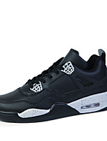 Zapatos de Hombre - Sneakers a la Moda - Casual - Cuero / Tejido - Negro / Blanco / Gris / Negro y Rojo / Negro y Blanco