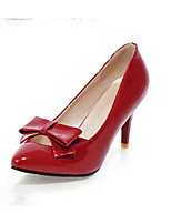 Women's Heel Heels Pumps/Heels Office & Career/Dress Black/Red/White