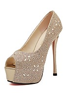 Women's Shoes Glitter Stiletto Heel Peep Toe/Platform Sandals Casual Silver/Gold