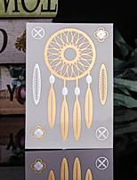 Tatuaggi adesivi - Serie totem Da donna/Da uomo/Adulto/Teen - 4 Pieces - Modello - di Carta - 14*9*0.2cm - Oro/Multicolore/Argento -