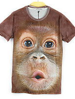 European Style TEE Digital Printing 3D  Animal Monkey T-shirt Harajuku Sleeved T-shirt