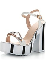 Women's Shoes Chunky Heel/Open Toe/Platform/Ankle Strap/ Sandals Dress Black/Pink/White