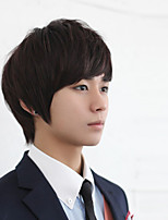 Manufacturers Selling Han Edition Men Wig Wig Hair Fleeciness Realistic Man Handsome Students Inclined Bang Wholesale