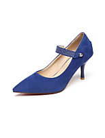 Women's Shoes Stiletto Heel Heels/Pointed Toe/Closed Toe Pumps/Heels Wedding/Party & Evening/Dress Black/Blue/Beige