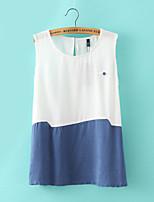 Women's Sexy/Casual Micro-elastic Sleeveless Regular Vest (Linen)