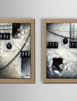 Oil Painting Decoration Abstract Hand Painted Canvas with Stretched Framed - Set of 2