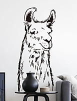 Wall Stickers Wall Decals, Modern Alpaca PVC Wall Stickers