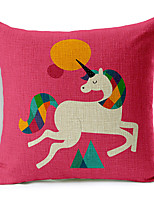 Colorful Balloon Gorgeous wildebeest Patterned Cotton/Linen Decorative Pillow Cover