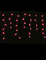 4W 3 Meter Long 100pcs LED String Light with AC110-220V Input PVC Transparent, Red Color