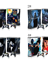 Protective Vinyl Skin Decal Skin Sticker for Xbox360 Slim Console & Two Controllers
