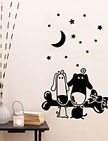 Wall Stickers Wall Decals Style The Small Dog Bone Cartoon PVC Wall Stickers