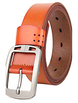 Men Vintage Alloy Calfskin pin buckle Waist Belt
