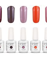 Gelpolish Nail Art Soak Off UV Nail Gel Polish Color Gel Manicure Kit 5 Colors Set S135