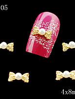 005 Alloy Rhinestone Bow Tie Nail Art 10pcs/lot DIY Bowtie Nail Glitters Slices Alloy Decoration Jewelry Accessories
