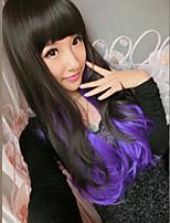 Japanisch und Koreanisch Modefarbe cosplay lange Haare Perücke