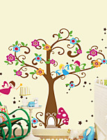 Wall Stickers Wall Decals Style Cartoon Flower Tree PVC Wall Stickers