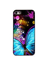 Personalized Gift Beautiful Butterfly Design Aluminum Hard Case for iPhone 5/5S