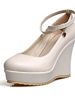 Women's Shoes Synthetic Wedge Heel Heels/Basic Pump Pumps/Heels Office & Career/Dress/Casual Black/Beige/Khaki