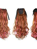 Women Mix Color Synthetic Clip in Ponytails