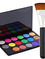 Pro Party 18 Colors Eyeshadow Matt Earth Color Makeup Palette + Powder Brush