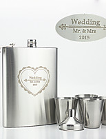 Personalized Stainless Steel Flasks 8-oz Flask Heart-Shaped