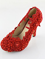 Women's Shoes red Crystals Pumps/Heels Wedding/Party & Evening/Dress Red