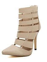Women's Shoes Stiletto Heel Pointed Toe/Closed Toe Pumps/Heels Casual Black/Beige