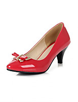 Girls' Shoes Casual Round Toe  Pumps/Heels Black/Brown/Red