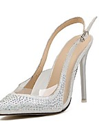 Women's Shoes Synthetic Stiletto Heel Heels Pumps/Heels Casual Silver/Gold