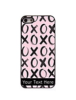 Personalized Gift XOXOXO Design Aluminum Hard Case for iPhone 4/4S