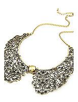 Vintage Style Bronze Hollow Metal Flower Shape Collar Choker Necklace