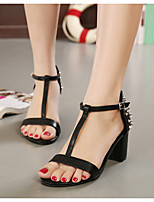 Women's Shoes Chunky Heel Open Toe Sandals with Rivet More Colors available