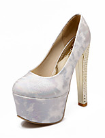Women's Shoes Stiletto Heel Heels/Round Toe/Closed Toe Pumps/Heels Wedding/Party & Evening/Dress Black/Red/White