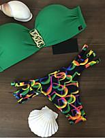Bikini Da donna Monocolore Push-up/Con ferretto Nylon