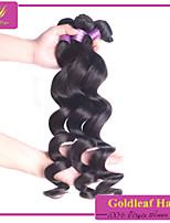 3pcs / cabelo virgem naturais onda solta preto muito brasileiro