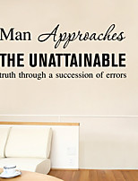 Wall Stickers Wall Decals Style Man English Words & Quotes PVC Wall Stickers