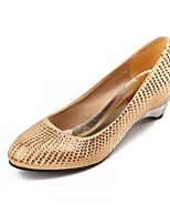 Women's Shoes Fleece Low Heel Wedges Pumps/Heels Casual Gold