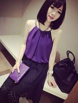 Women's Red/White/Black/Purple Vest Sleeveless