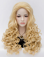 The European and American Wind Beauty Tips Golden Waves Wig