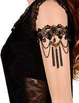 Vintage Black Gem Tassel  Chain Bracelet