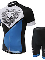 WEST BIKING® Men's Mountain Bike Clothing Suit Breathable Skeleton Wing Wicking Cycling Clothing Short Suit