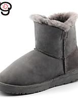 Zapatos de mujer - Tacón Bajo - Botas de Nieve - Botas - Boda / Exterior / Oficina y Trabajo / Vestido / Casual / Fiesta y Noche -Piel de